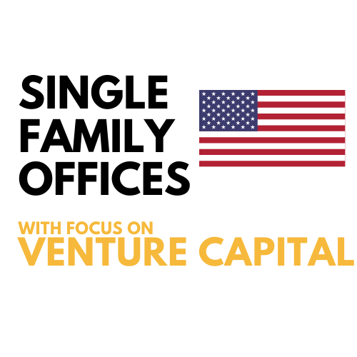 venture capital single family office investors united states