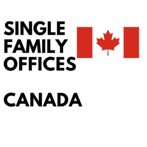 single family office list canada
